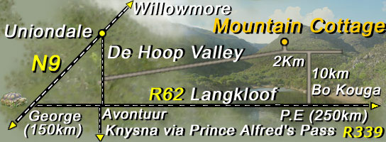 Road map to Mountain Cottage